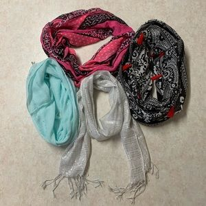 Buy 2 & get 2 free! Girls justice colorful scarves